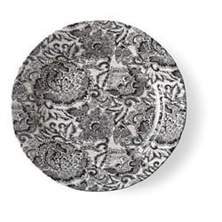 Burleigh - Faded Peony Dinner plate, 26cm, black
