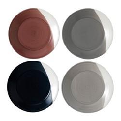 Bowls of Plenty Set of 4 plates, 23cm, brown/grey