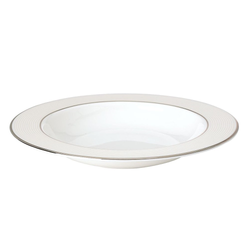 Opal Innocence Stripe Rimmed soup plate