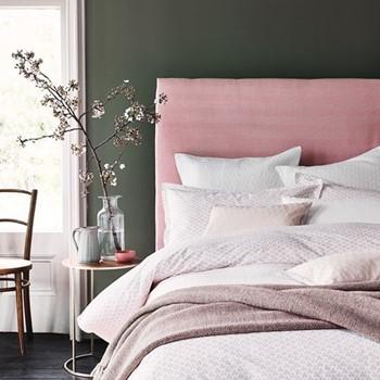 Tua Single duvet cover set, L200 x W140cm, blush