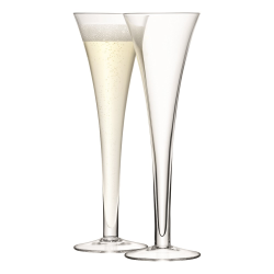 Bar Pair of hollow stem Champagne flutes, 200ml, clear