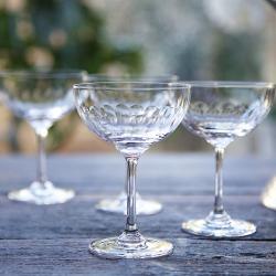 Lens Set of 6 champagne glasses, 150ml, Crystal