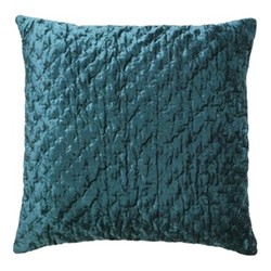 Embroidered Lux Cushion, 50 x 50cm, petrol