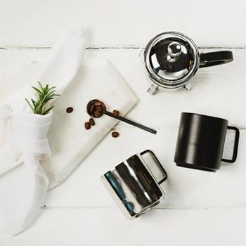 Pair of coffee cups, 7 x 7.5cm, stainless steel & black coating