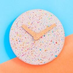 Sprinkles Wall clock, D31.5 x H3cm, grey