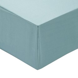 Signature Super king fitted sheet, L180 x W200cm, teal