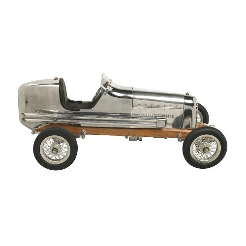 Bantam Midget Model car, H18 x W22 x L48cm, Polished Aluminium