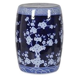 Ceramic stool, H45 x Dia32cm, blue