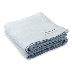 Ipanema Linen beach towel, baby blue