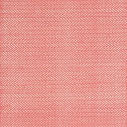 Herringbone Woven cotton rug, W122 x L183cm, coral