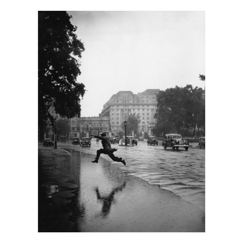 Flooded Road Framed photograph, H71 x W60cm