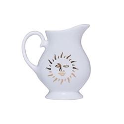Sun Milk jug, H8.8 x D8cm, white and gold