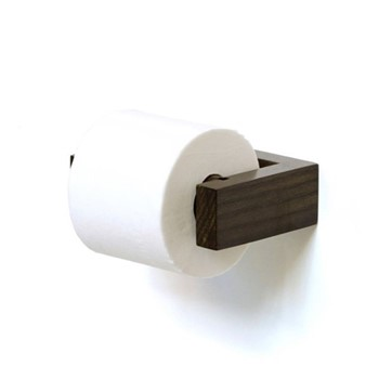 Slimline Loo roll holder, H5 x W16 x D11cm, dark brown
