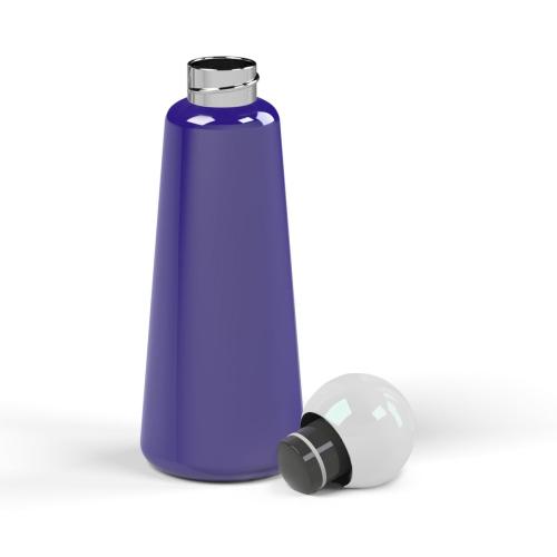 Skittle Water bottle, 500ml, Indigo/White