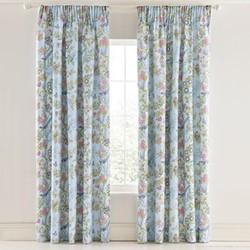 Chinese Bluebird Curtains, L183 x W168cm, aqua