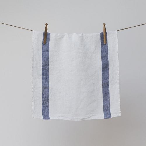 Arles Hand towel, 45 x 75cm, navy stripe