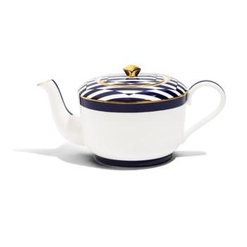 Details From Willow Cobalt Small teapot, H8.5cm - 300ml, cobalt blue