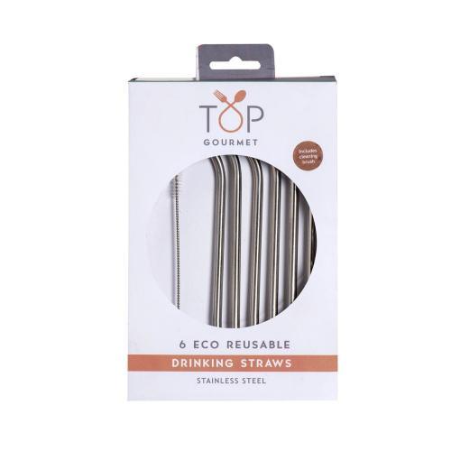 Reuseable metal straws, Stainless Steel