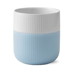 Fluted Contrast Mug, 33cl, light blue