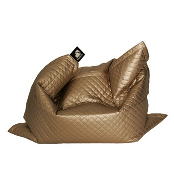 Jumbo - Quilted Beanbag, 175 x 135cm, gold
