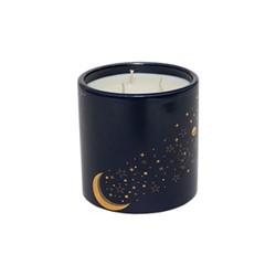 Luna Medium candle, 12 x 12cm, Navy and gold