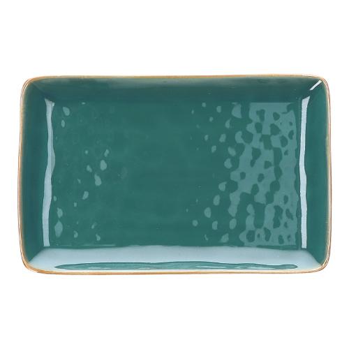 Concerto Pair of rectangular trays, L20 x W13cm, Teal Blue