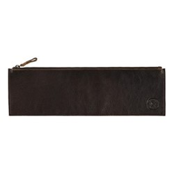Leather tool pouch, L40 x H13cm, dark brown
