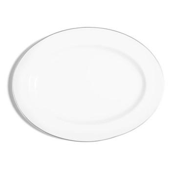 Line - Colour Oval serving plate, 40cm, metallic platinum