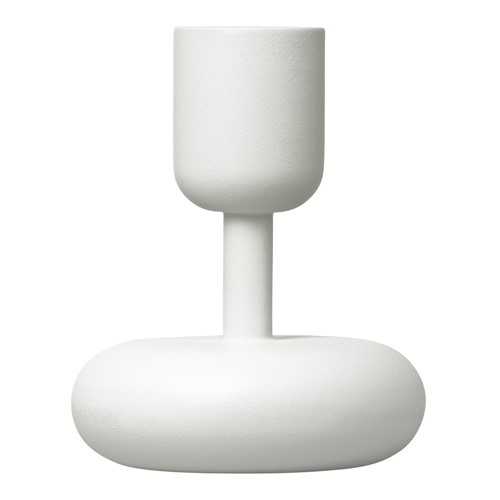 Napula by Matti Klenell 2012 Pair of candleholders, 18.3 and 10.7cm, White