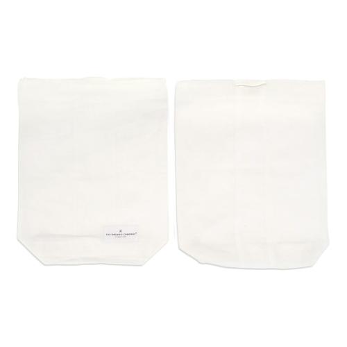 Medium food bag, 30 x 24cm, Natural White