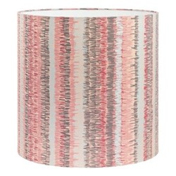Textured Stripe Lampshade, 36 x 36cm, oyster/storm