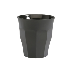 Picardie Soft Touch Set of 6 glass tumblers, D6.5 x H6.7cm - 9cl, Grey Soft Touch Glass