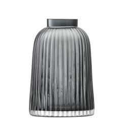 Pleat Vase, 20cm, grey