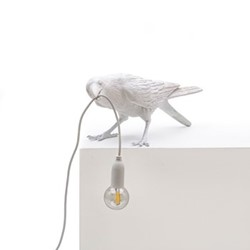 Playing Bird Tablelamp, L33.5 x W11.5 x H10.5cm, white