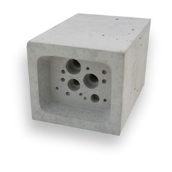 Bee Block Small bee house, 6.5 x 7 x 10.5cm, concrete