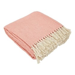 Diamond Throw, L230 x W130cm, coral