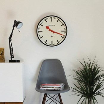 Putney Wall clock, 45cm, black metal