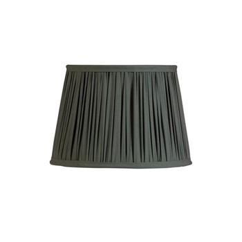 Drum Lampshade, D33cm, cotton/grey