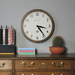 The Wimbledon Wall clock, 45 x 45 x 6cm, solid wood