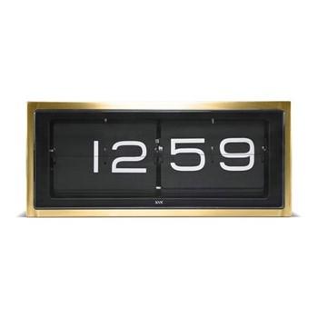 Brick Wall or desk clock, L36 x W12.8 x H15.7cm, brass