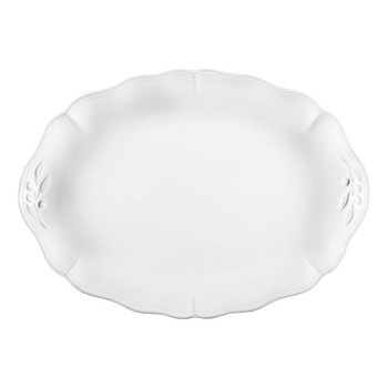 Alentejo Oval platter, 40cm, white