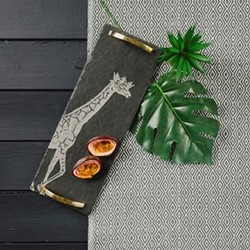 Gold Safari Collection - Giraffe Serving tray, 42 x 15cm
