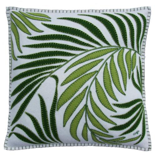 Tropical Paradise Tropical Palm Cushion, 46 x 46cm, Cream
