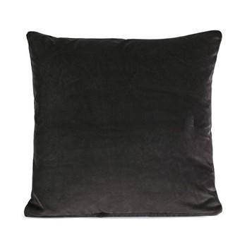 Monroe Square cushion, velvet/charcoal