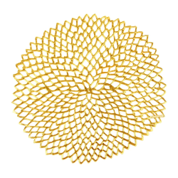 Dahlia Set of 8 floral placemats, D38cm, Gold