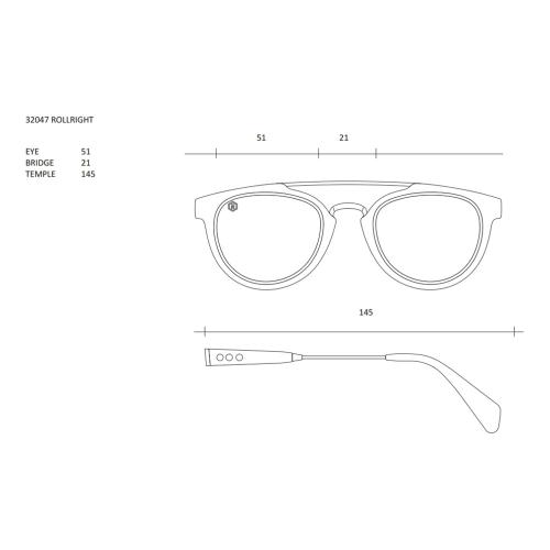 Louis Orson Sunglasses, W13cm, Tortoiseshell Frame