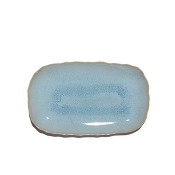 Plume Rectangular tray, 40 x 25cm, ocean blue