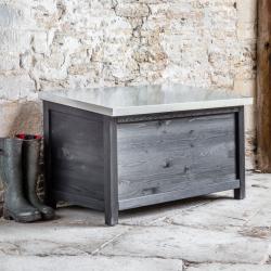 Moreton Outdoor storage box, H64 x D60 x W104cm, Carbon/Spruce