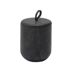 Hammam Scented Candle, 9 x 11.3cm, Dark Grey - Bois De Cèdre
