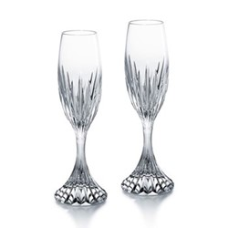 Massena Pair of Champagne flutes, H21.6cm - 15cl, clear